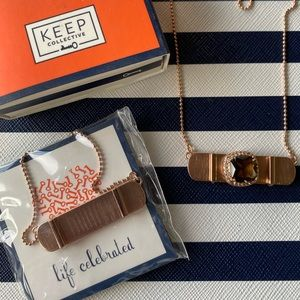 Keep Collective Rose Gold Horizontal ID Necklace